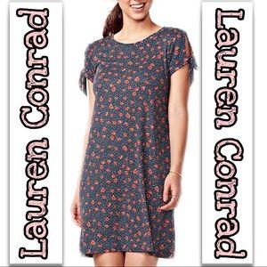 Lauren Conrad | Floral Tie Sleeve Swing Dress SZ M